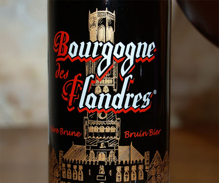 Bourgogne des Flandres Biere Brune, a label