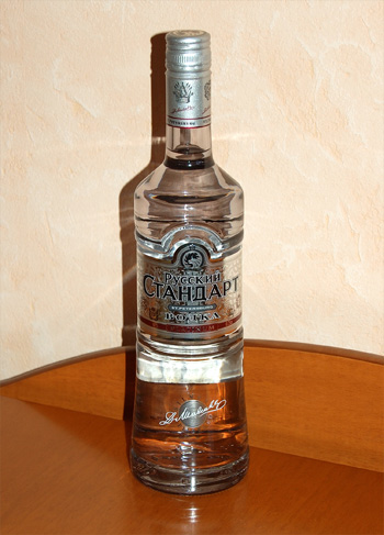 Discovering vodka. Part II, Russian Standard Platinum Vodka