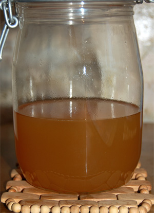 Ginger liqueur, before steeping