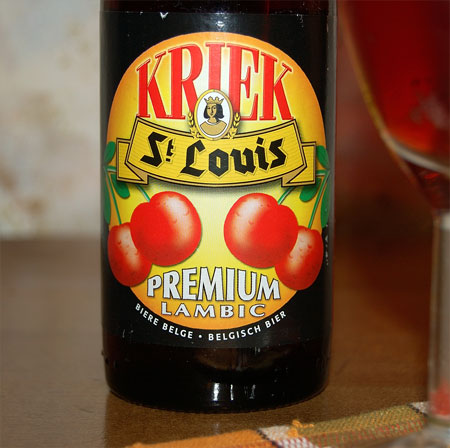 St. Louis Premuim Kriek Lambic, a label