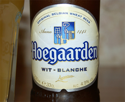 Hoegaarden witbier, a label (new design)