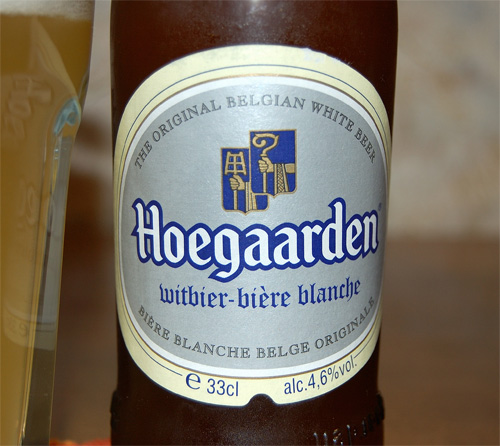 Hoegaarden witbier, a label (old design)