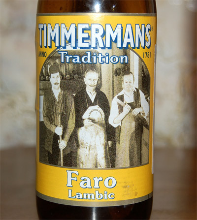Timmermans Faro Lambic, a label