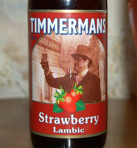 Timmermans Strawberry Lambic, a label