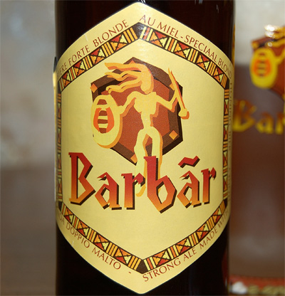 Barbar Strong Ale, a label