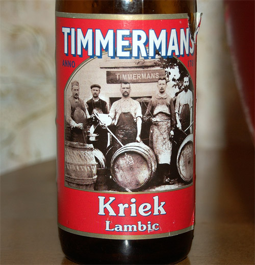 Timmermans Kriek Lambic, a label