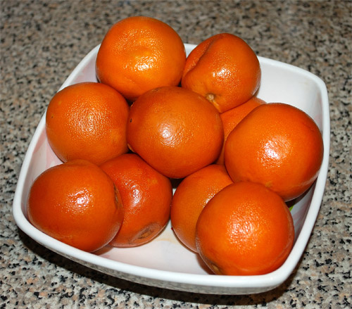 Orange marmalade, boiled oranges