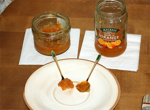 Orange Marmalade, homemade vs factory-made
