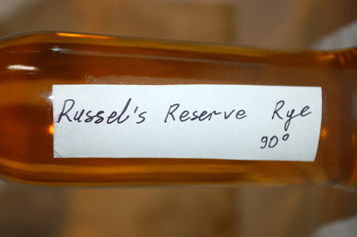 Russell's Reserve Rye sample