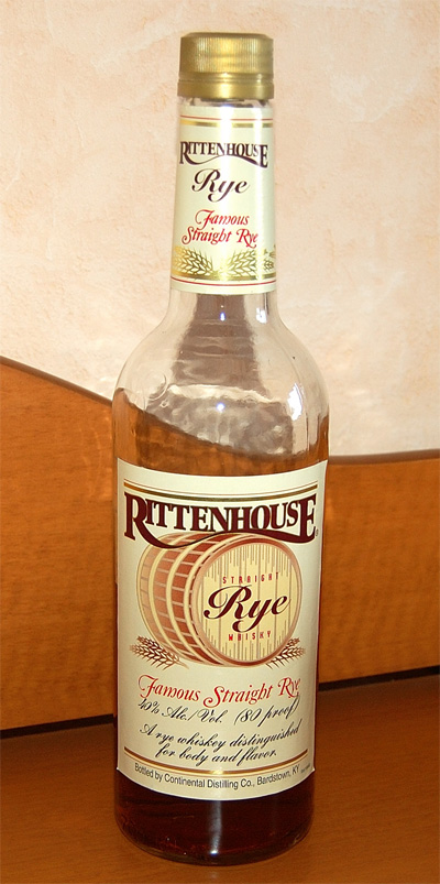 Rittenhouse Rye 80 proof Whiskey