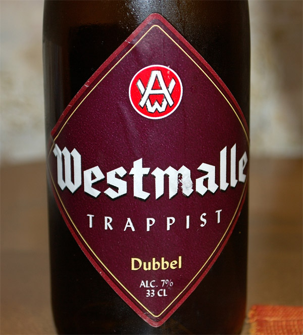 Westmalle Trappist Dubbel, the label