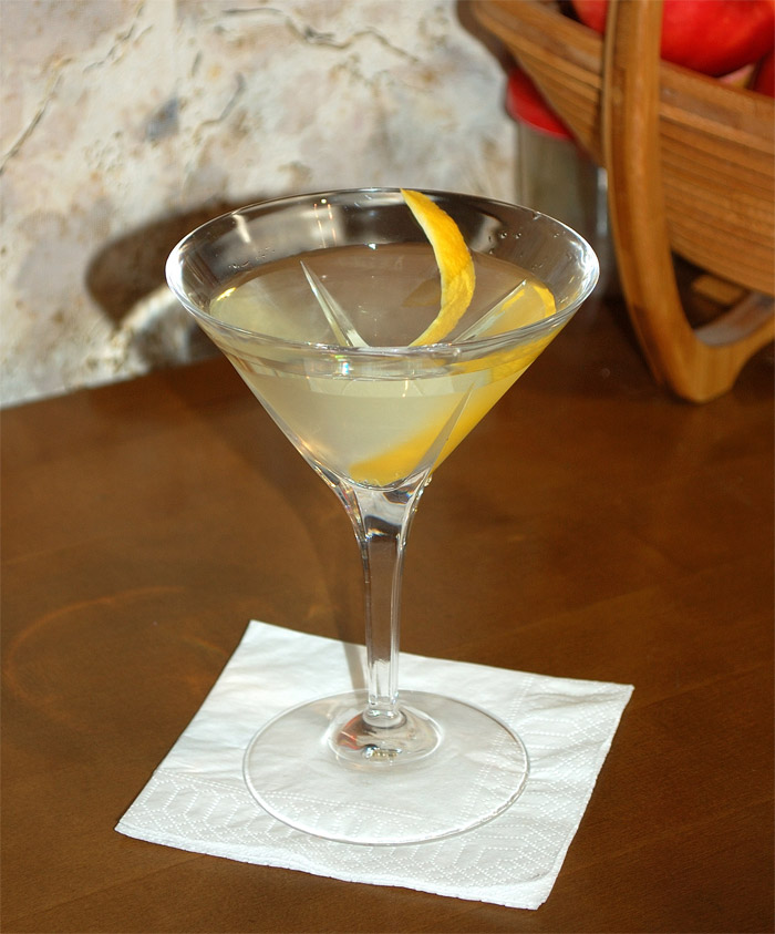 Green Vesper Cocktail