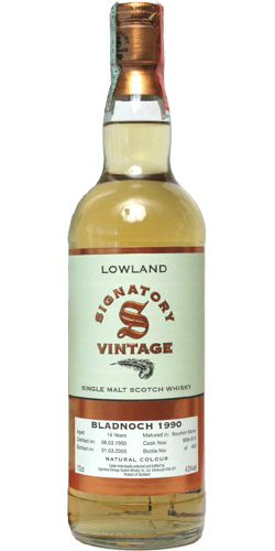 Bladnoch 1990 Signatory Vintage Single Malt Scotch Whisky