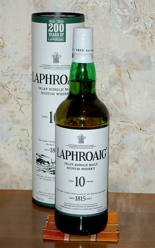 Laphroaig Islay Single Malt Scotch 10 years old Whisky