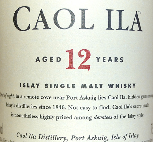 Caol Ila Islay Single Malt Scotch 12 years old Whisky
